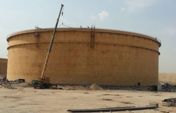 Rehabilitation of crude oil foalting roof storage tank B1