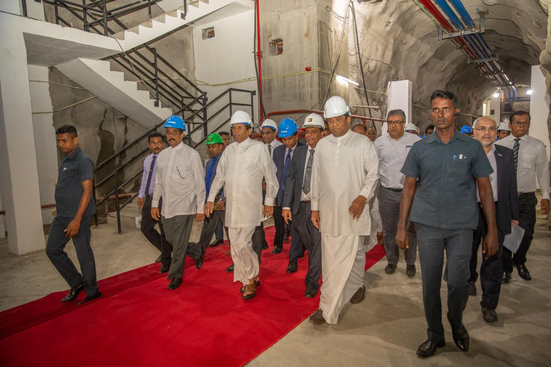 Inaugurating Uma Oya Multipurpose project in the presence of president of Sri Lanka