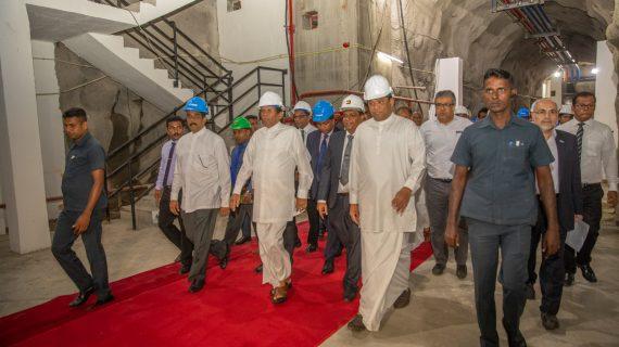 افتتاح سد پوهولپولا و تونلهای انتقال آب پروژه اومااویا با حضور رئیس جمهور سریلانکا