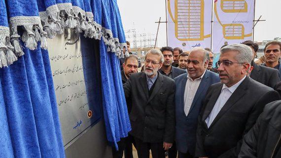 واحد نخست بخش گاز نیروگاه سیکل ترکیبی دالاهو با حضور رئیس مجلس شورای اسلامی افتتاح شد
